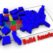 "Puzzle ""build USA"". 3d — Stock Photo #5093972"