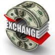 Currency exchange. Euro. — Stock Photo