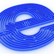 Symbol for internet. Labyrinth — Stock Photo