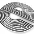 Symbol for internet. Labyrinth — Stock Photo #5094006