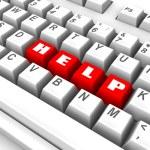 Keyboard. help. 3d — Stock Photo