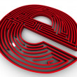 Symbol for internet. Labyrinth — Stock Photo #5094051