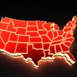 map of usa — Stock Photo #5094057
