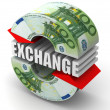 Currency exchange. Euro — Stock Photo #5094084