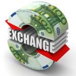 Currency exchange. Euro — Stock Photo