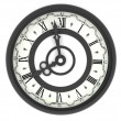 Stock Photo: Clock. eight o'clock
