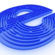 Symbol for internet. Labyrinth — Foto Stock