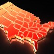 map of usa — Stock Photo #5094103
