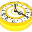 Clock. Four o'clock. 3d — Stock Photo #5094154