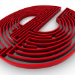 Symbol for internet. Labyrinth — Stockfoto