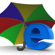 Symbol of internet with umbrella — Photo