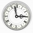 Stock Photo: Clock. Three o'clock