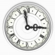 Clock. Three o'clock - Stock Photo
