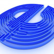 Symbol for internet. Labyrinth — Stock Photo #5094347