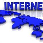 Map of World. Internet — Stock Photo