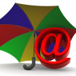 Symbol of internet with umbrella — Stockfoto