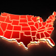 Map of USA. 3d — Stock Photo #5094377