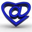 Symbol of internet as heart — Stock Photo