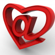 Symbol of internet as heart — Stock Photo #5094705