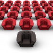 Armchairs. Leadership. 3d — Stock Photo #5094837
