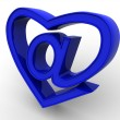 Symbol of internet as heart — Stock Photo #5094862