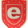 Shield with symbol for internet - Stockfoto