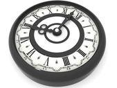 Clock. eight o'clock. 3d — Stock Photo