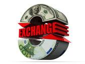 Valutaväxling. dollarn — Stockfoto