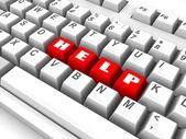 Keyboard. help. 3d — Stockfoto