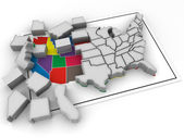 "Puzzle ""build USA"" — Stock Photo"