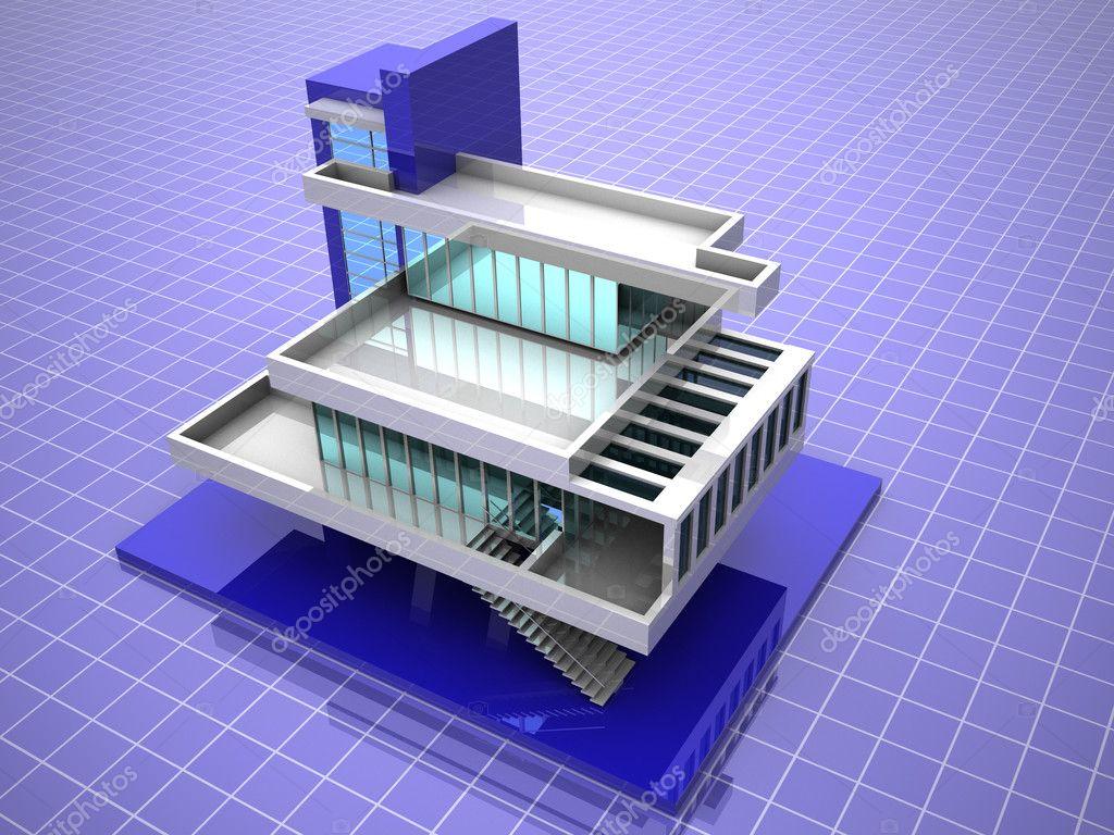 Model Of House 3d Stock Photo Maxxyustas 5093964