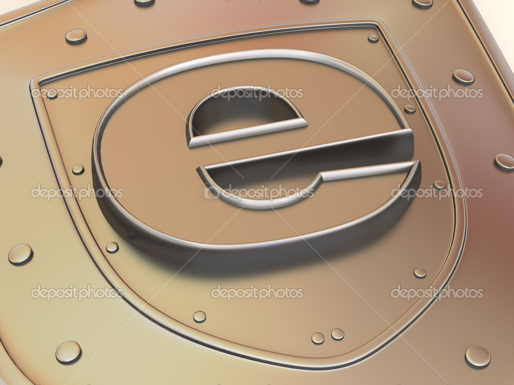 Shield with symbol for internet. 3d — Stock Photo #5095109