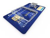 Credit card as mousetrap. Conceptual image — Stock Photo