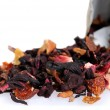 Fruit and floral dry tea — Stock Photo