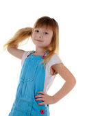 Small girl with long hair — Стоковое фото