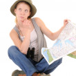 Royalty-Free Stock Photo: Thoughtful tourist with map