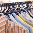 Mix color Shirt and Tie on Hangers — Stock Photo #2798818