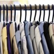 Mix color Shirt and Tie on Hangers — Stock Photo #2798863