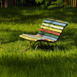 Colorful Bench — Stock Photo