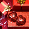 Gift box with red heart — Stock Photo #2794110