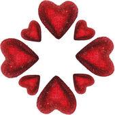 Cadre des cœurs isolés — Photo
