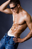 Young bodybuilder man — Stock Photo