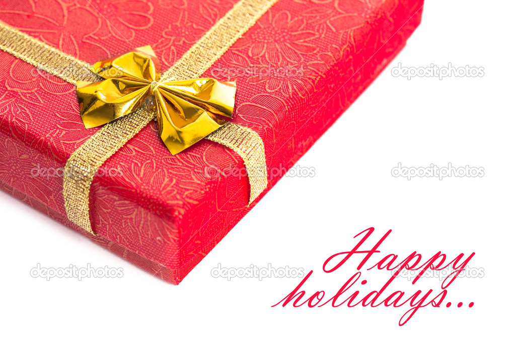 Red gift box with ribbon  — Stock Photo #2794074