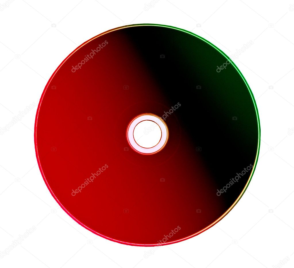 Cd or DVD rom isolated on white background  — Stock Photo #2805045