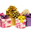 Royalty-Free Stock Photo: Many gift boxes isolated
