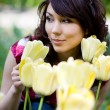 Tender girl in garden — Stock Photo #2821262