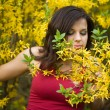Stock Photo: Woman in garden