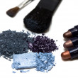 Stock Photo: Blue make-up eyeshadows