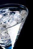 Vaso con hielo y martini — Foto de Stock