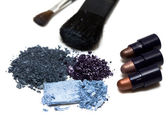 Blue make-up eyeshadows — Stock Photo